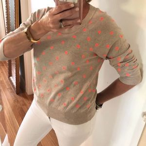 J. Crew Embroidered Dot Sweater